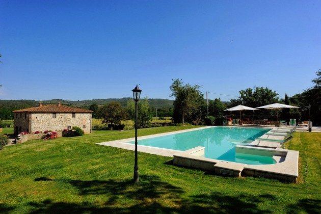 Pool Toskana Arezzo Luxus- Ferienhaus Ref. 162283-2