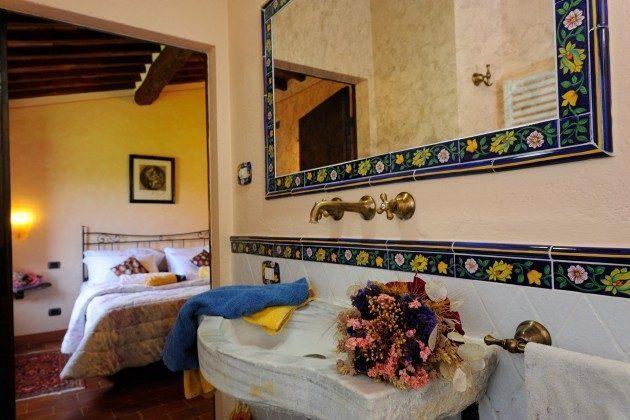 Badezimmer Toskana Arezzo Luxus- Ferienhaus Ref. 162283-2