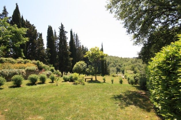 Le Muricce, Garten des Anwesens