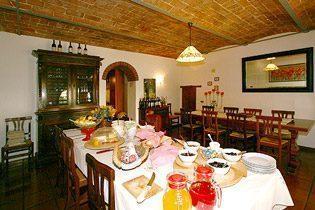 Toskana Bed & Breakfast Ferienwohnungen Gemeinschaftsesszimmer