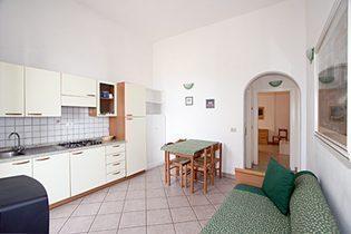 Küche in der Villa Liberty