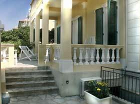 Ferienwohnung Toskana Villa am Meer - Aufgang Terrasse