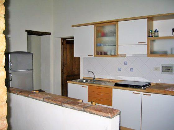 Wohnung 3, K�che integriert in das Wohnzimmer