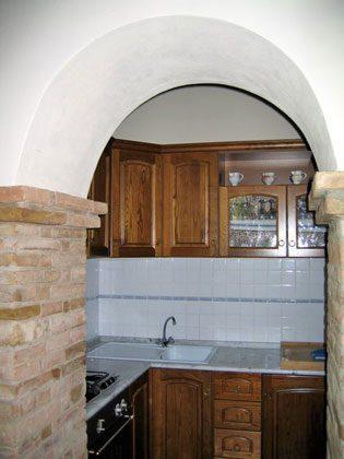 Wohnung 1, die offene Küche zum Wohnzimmer