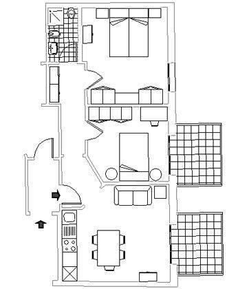 Apartment Florenz 56169-2 - Grundriss