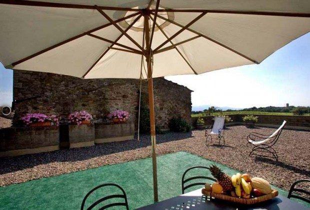 Terrasse Santa Marta Toskana Ferienwohnungen auf Weingut Ref. 1892