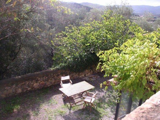 Terrasse - Toskana Ferienhaus Marsiliana