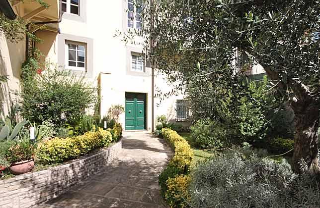 Vorgarten Toskana Casa Chiara Wohnbereich