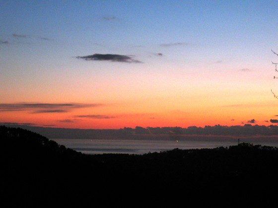 Sonnenuntergang Toskana Camaiore