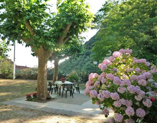 Ferienhaus Garten Terrasse