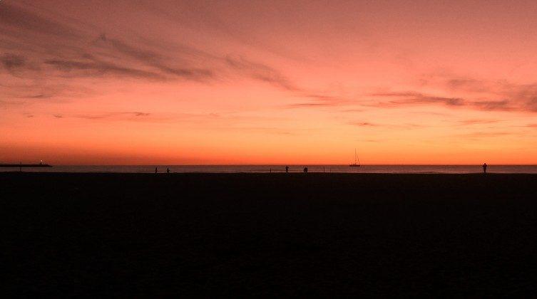 Sunset on Viareggio beach
