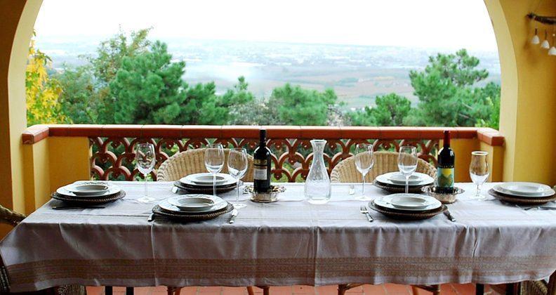 Toskana Villa Marino Terrasse
