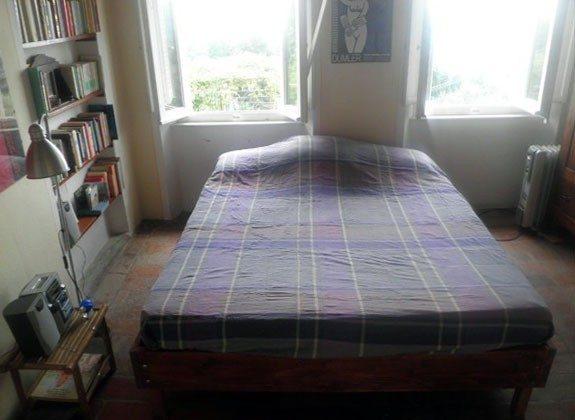 Schlafzimmer mit Blick auf die Küste nach Süden