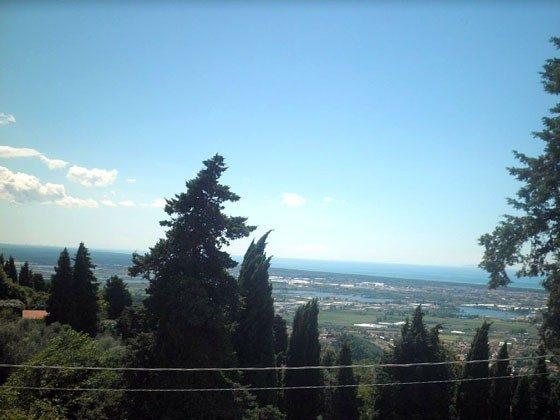 Blick von der Terrasse am Nachmittag