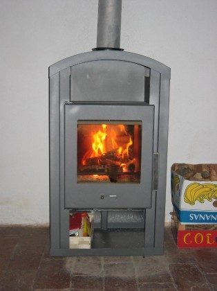 Ofen in der Wohnküche