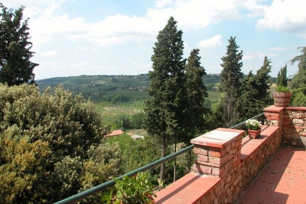 Aussicht von der Terrasse - Ferienhaus Toskana im Chianti-Gebiet Ref 22649-12