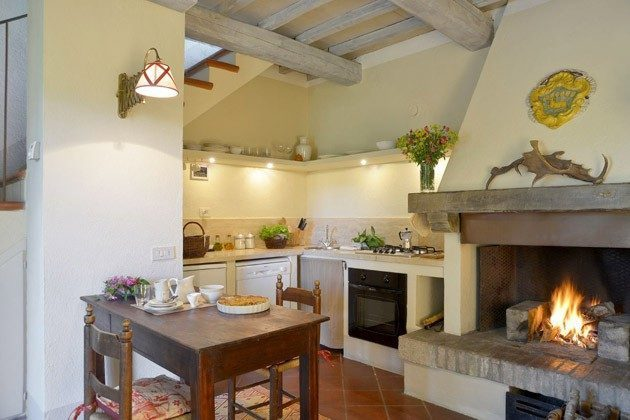 22649 -01 Toskana - Vivo d'Orcia - Küche und Essbereich