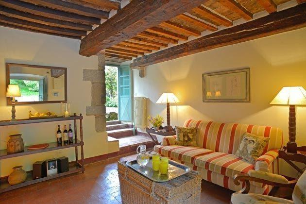 Ferienhaus 22649 - 2 - Vivo d'Orcia - Wohnzimmer mit Gartenblick