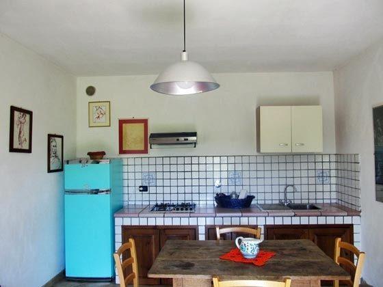 Umbrien Landgut Raffaella Wohnung Fico Küche