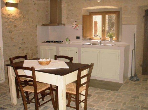 Umbrien Perugia Ferienwohnungen UmbertideIl Molino Küche