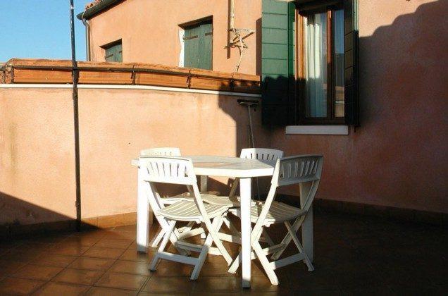 Terrasse Venedig Ferienwohnung Tole