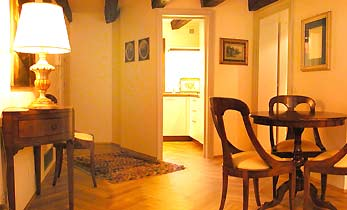 Wohnzimmer Venedig Ferienwohnung San Marco