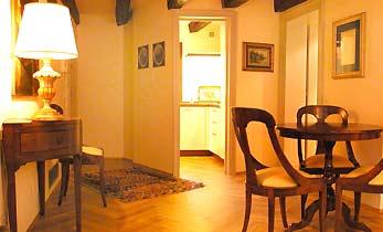 Wohnzimmer Venedig Ferienwohnung San Marco