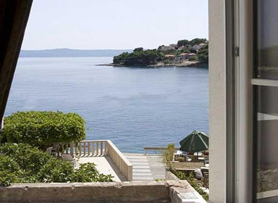 Ausblick aus dem Fenster des unteren Wohnbereichs