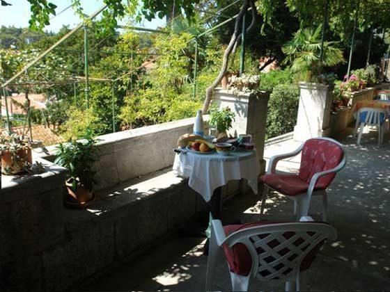 Terrasse vor dem Hauseingang