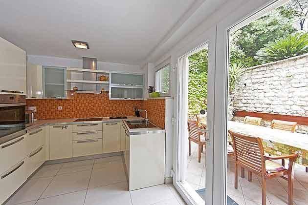 Fewo 5 Küchenzeile und hintere Terrasse