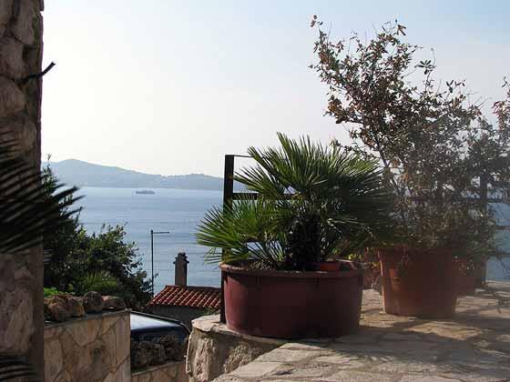 Dubrovnik Mlini Ferienhaus 2001-56 Blick von der Terrasse