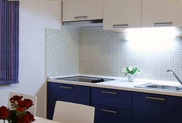 Appartementhaus Hvar Wohnküche Wohnbeispiel