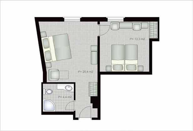 Grundriss Familienzimmer - Objekt 138495-2