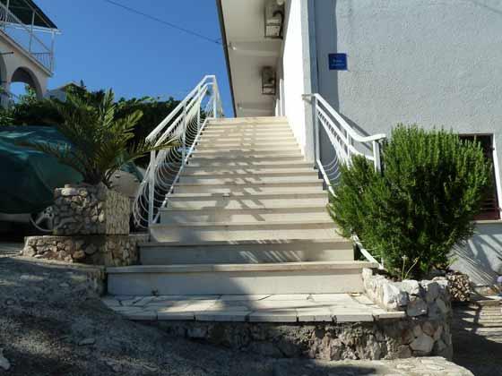 Treppe zu den den Apartments