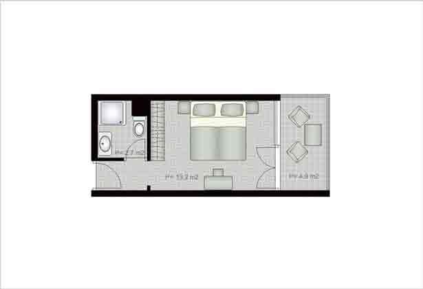 Aparthotel in Hvar grundriss Doppelzimmer