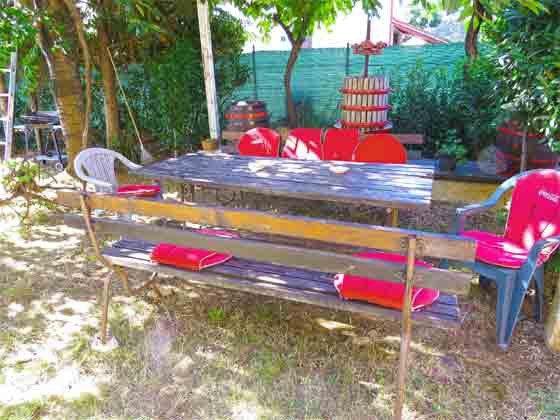 Sitzplatz im Garten vor Studio 1 - Objekt 160284-116