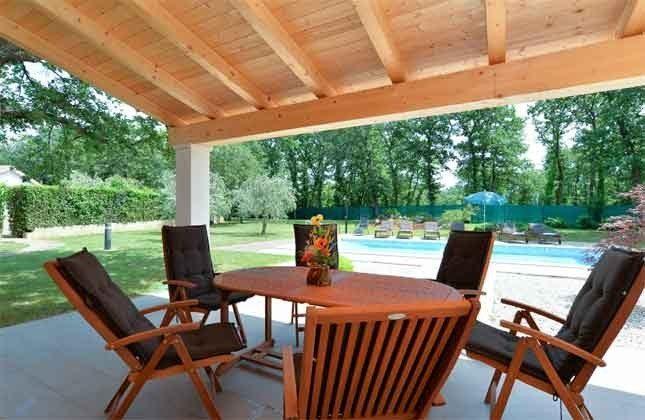 überdachte Terrasse am Pool -  Objekt 160284-250