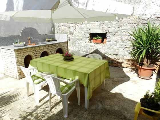 Terrasse im Innenhof