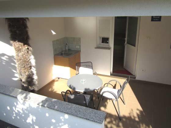 überdachte Terrasse des Doppelzimmers - Objekt 160284-14