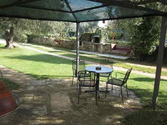 Blick auf den gemauerten Gartengrill - Objekt 160284-14