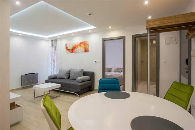 Apartment 2+2 Wohküche Beispiel