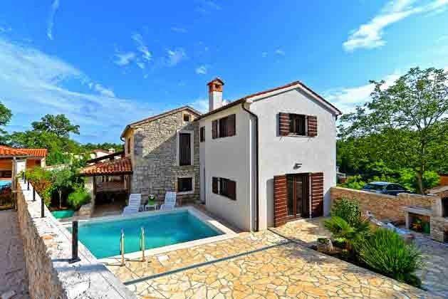 das Ferienhaus mit Pool