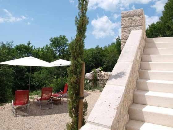 Terrasse und Aufgang zur Veranda - Objekt 161462-1
