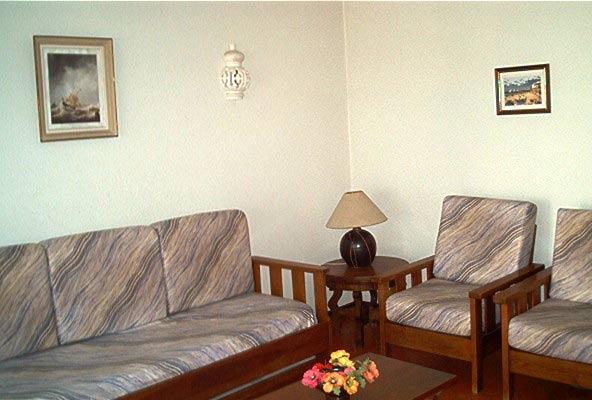 Wohnbereich Küche Lagos Edificio Montana Appartement T1 Ref 2397-1