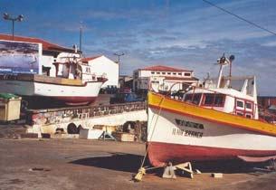 Portugal Azoren Insel Graciosa - Hafen in Praia