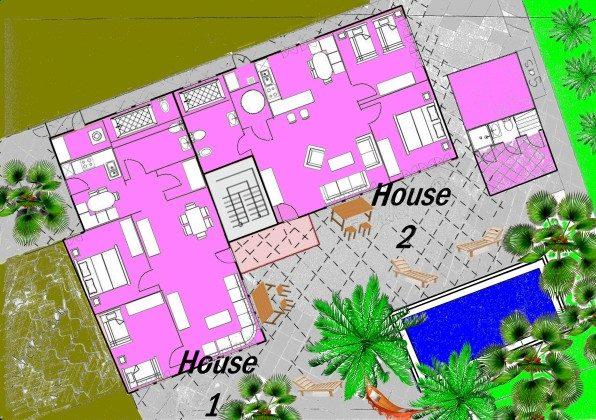 Grundriss Ferienhäuser
