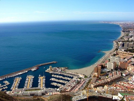 Jachthafen von Aguadulce bis zur Urbanisation Roquetas de Mar