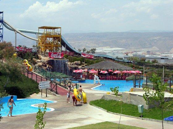 Aguapark ca. 1 km von den Ferienhäusern entfernt
