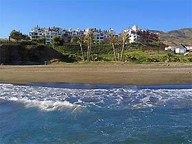 Blick vom Strand Ferienwohnung Playa Galera