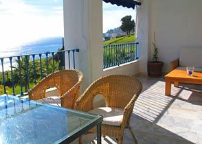 Balkon Costa del Sol Ferienwohnung Playa Galera